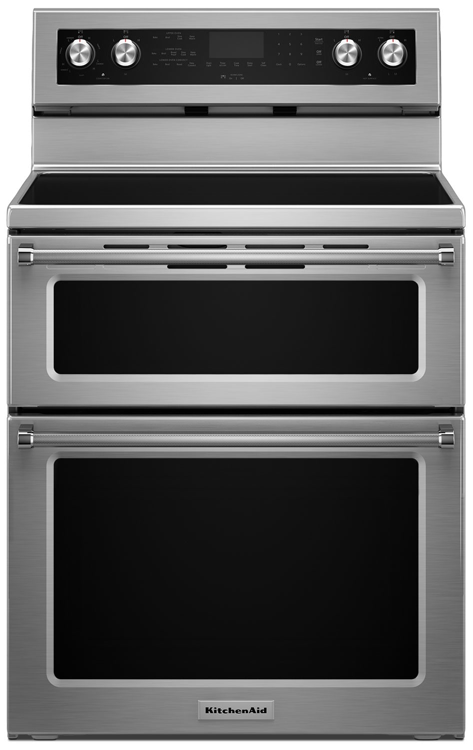 Cooking Products - KitchenAid Stainless Steel Freestanding Electric Double-Oven Range (6.7 Cu. Ft.) - YKFED500ESS