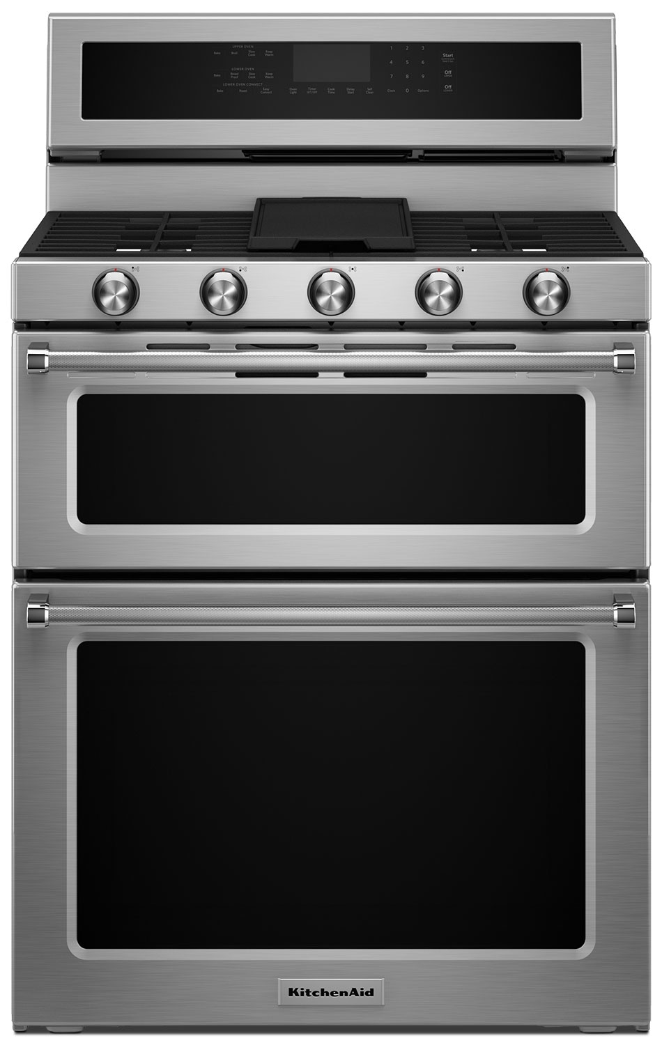 Cooking Products - KitchenAid Stainless Steel Dual-Fuel Double Convection Range (6.7 Cu. Ft.) - KFDD500ESS