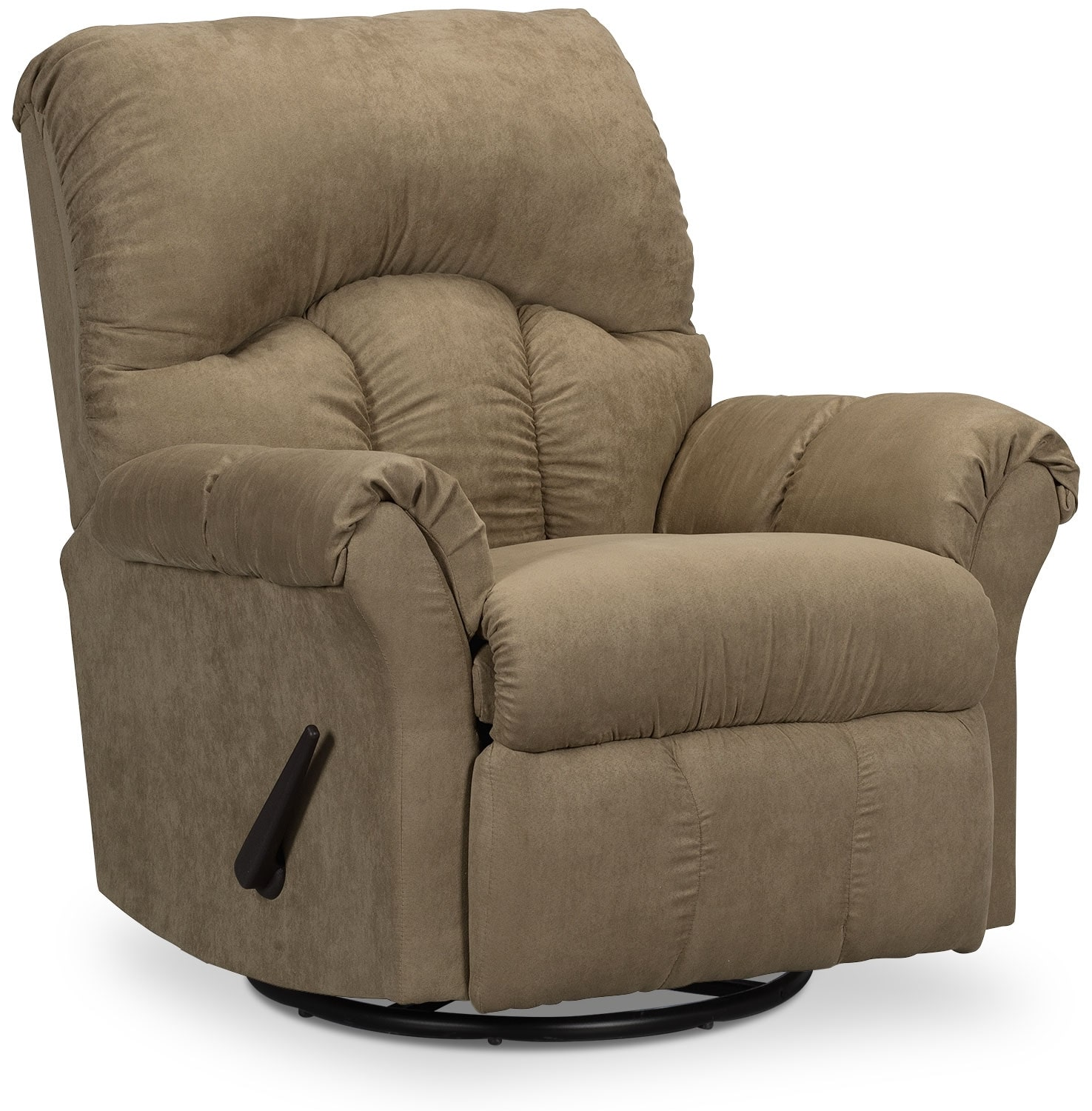 Designed2B Recliner 6734 Microsuede Swivel Glider Chair - Mocha
