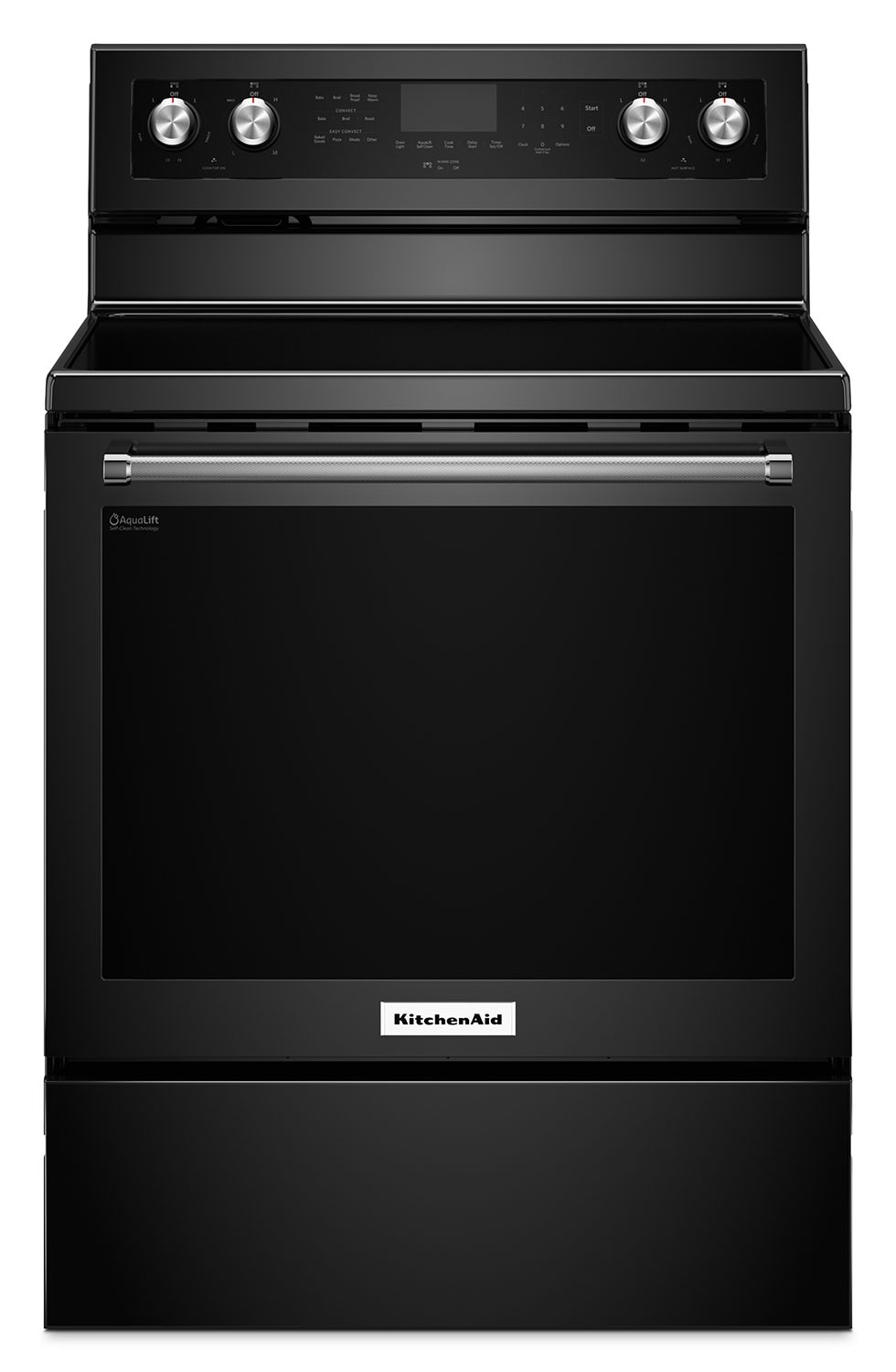 Cooking Products - KitchenAid Black Freestanding Electric Convection Range (6.4 Cu. Ft.) - YKFEG500EBL