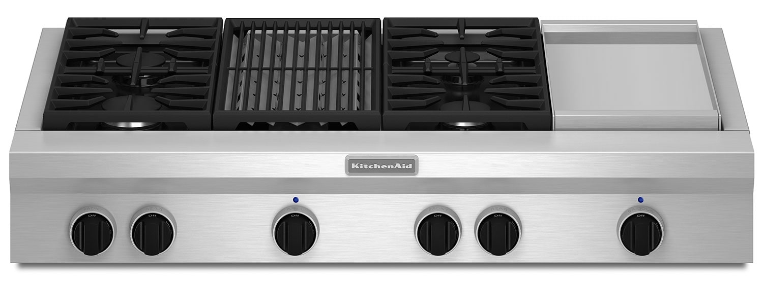 Cooking Products - KitchenAid Gas Cooktop KGCU484VSS