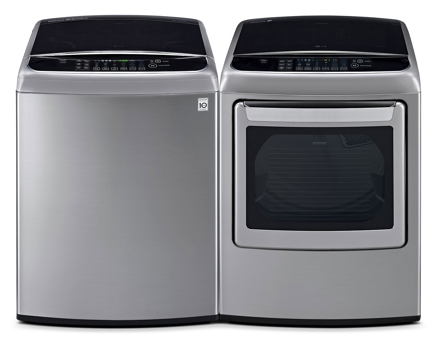 [LG Graphite Steel Top-Load Laundry Pair]