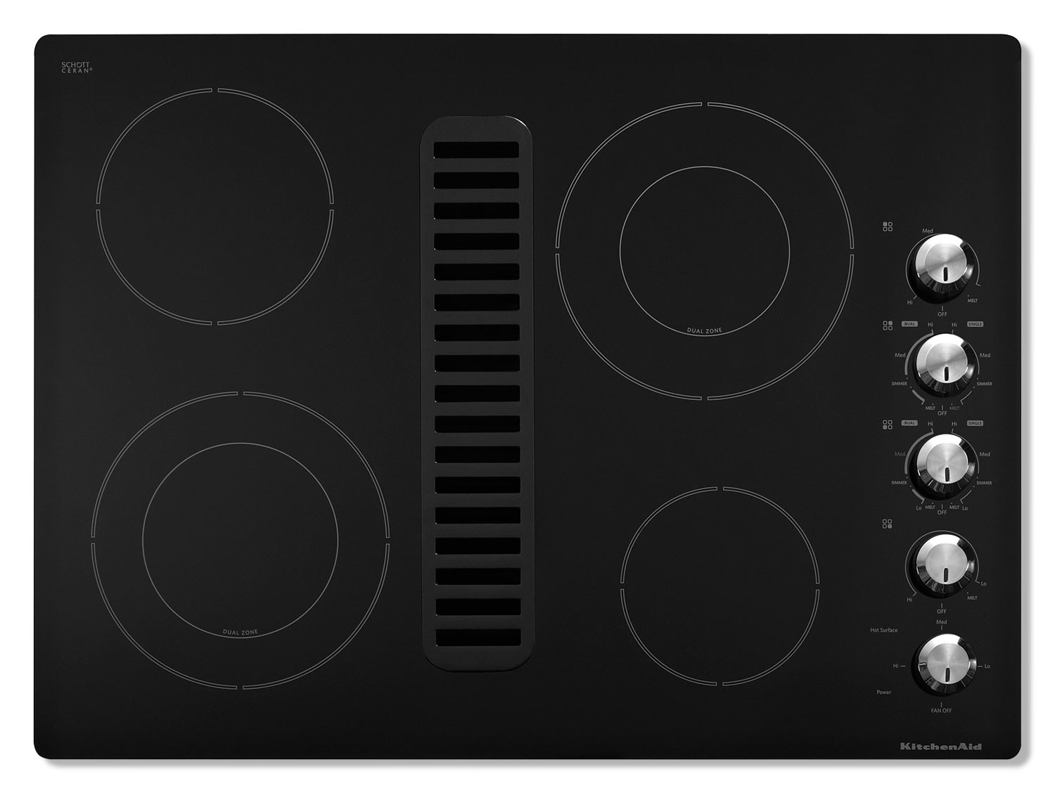 Cooking Products - KitchenAid Electric Cooktop KECD807XBL