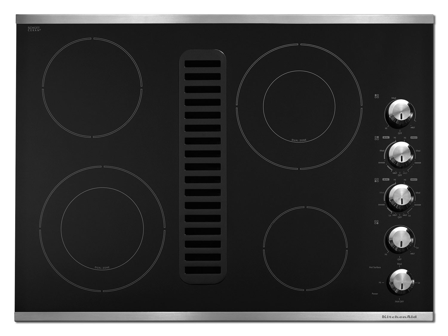 Cooking Products - KitchenAid Electric Cooktop KECD807XSS