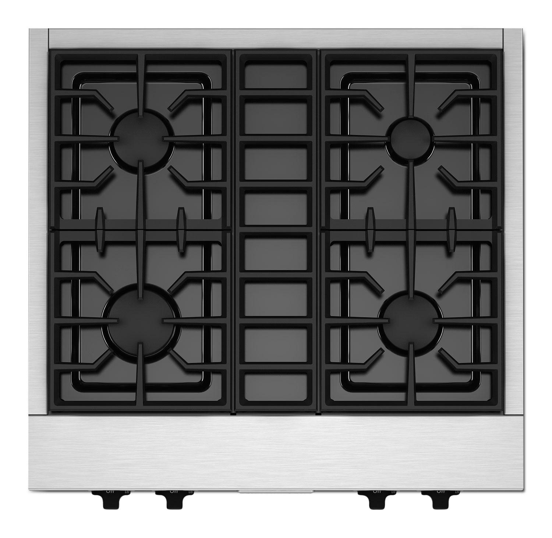 Cuisinières - KitchenAid Surface de cuisson au gaz inox KGCU407VSS