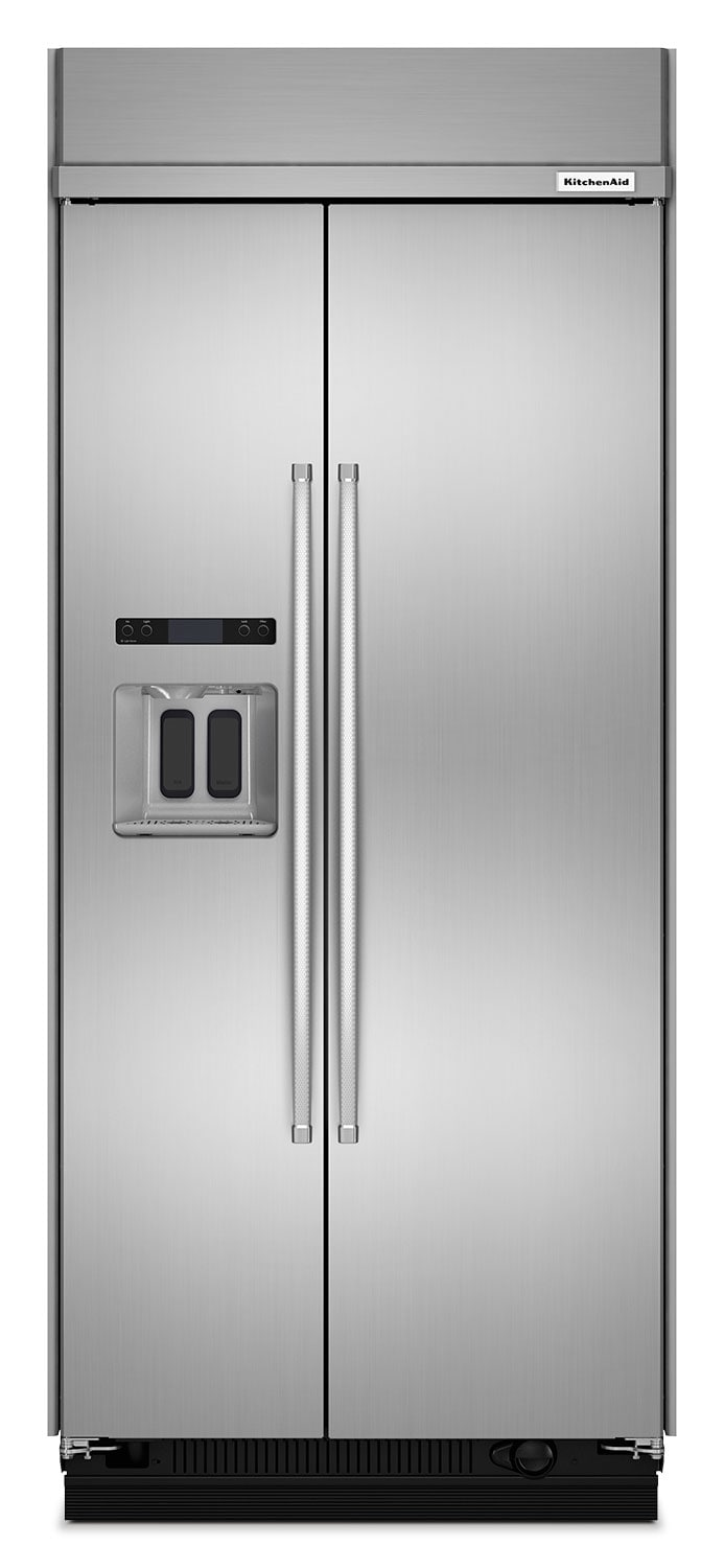 Refrigerators and Freezers - KitchenAid  Stainless Steel Side-by-Side Refrigerator (20.8 Cu. Ft.) - KBSD606ESS
