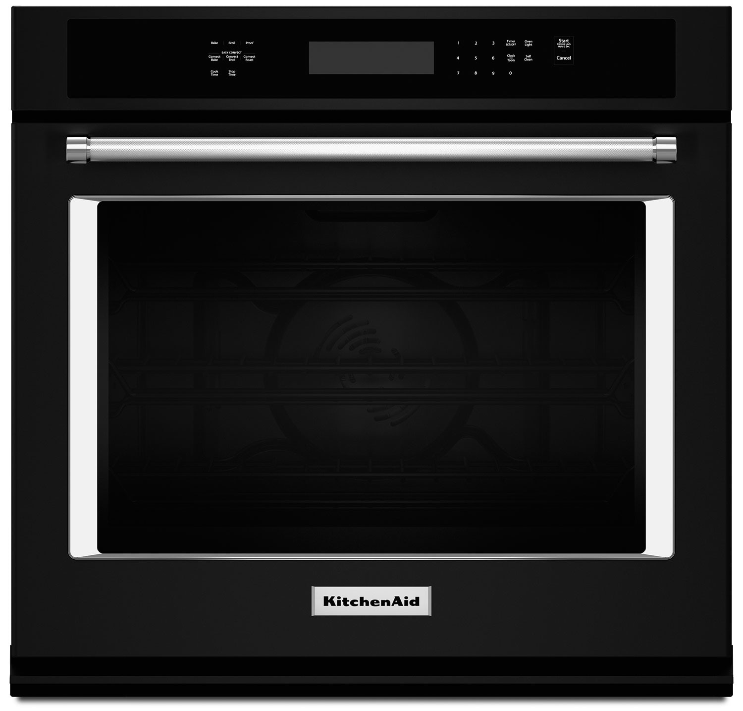 Cooking Products - KitchenAid 5.0 Cu. Ft. Single Wall Oven with Even-Heat™ True Convection - Black