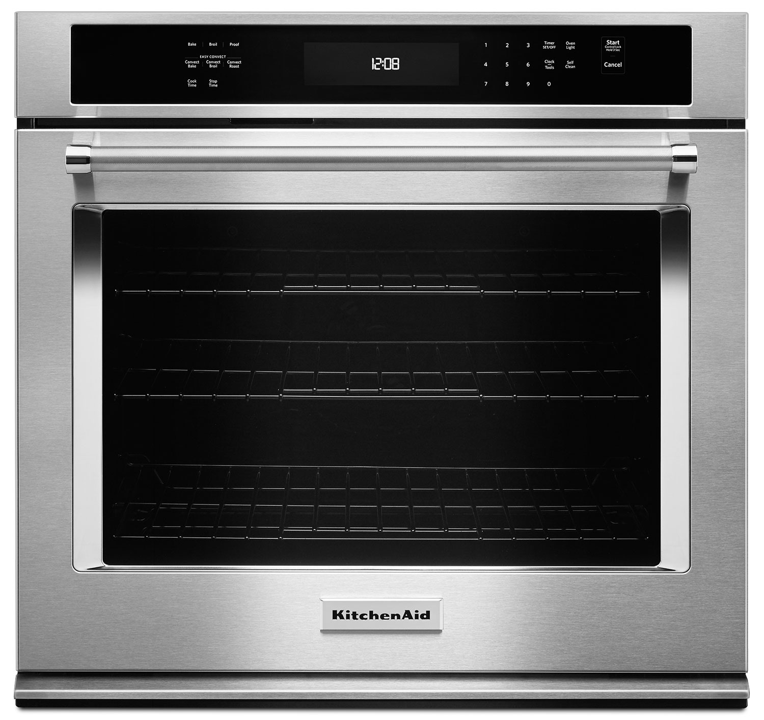 Cooking Products - KitchenAid 5.0 Cu. Ft. Single Wall Oven with Even-Heat™ True Convection - Stainless Steel