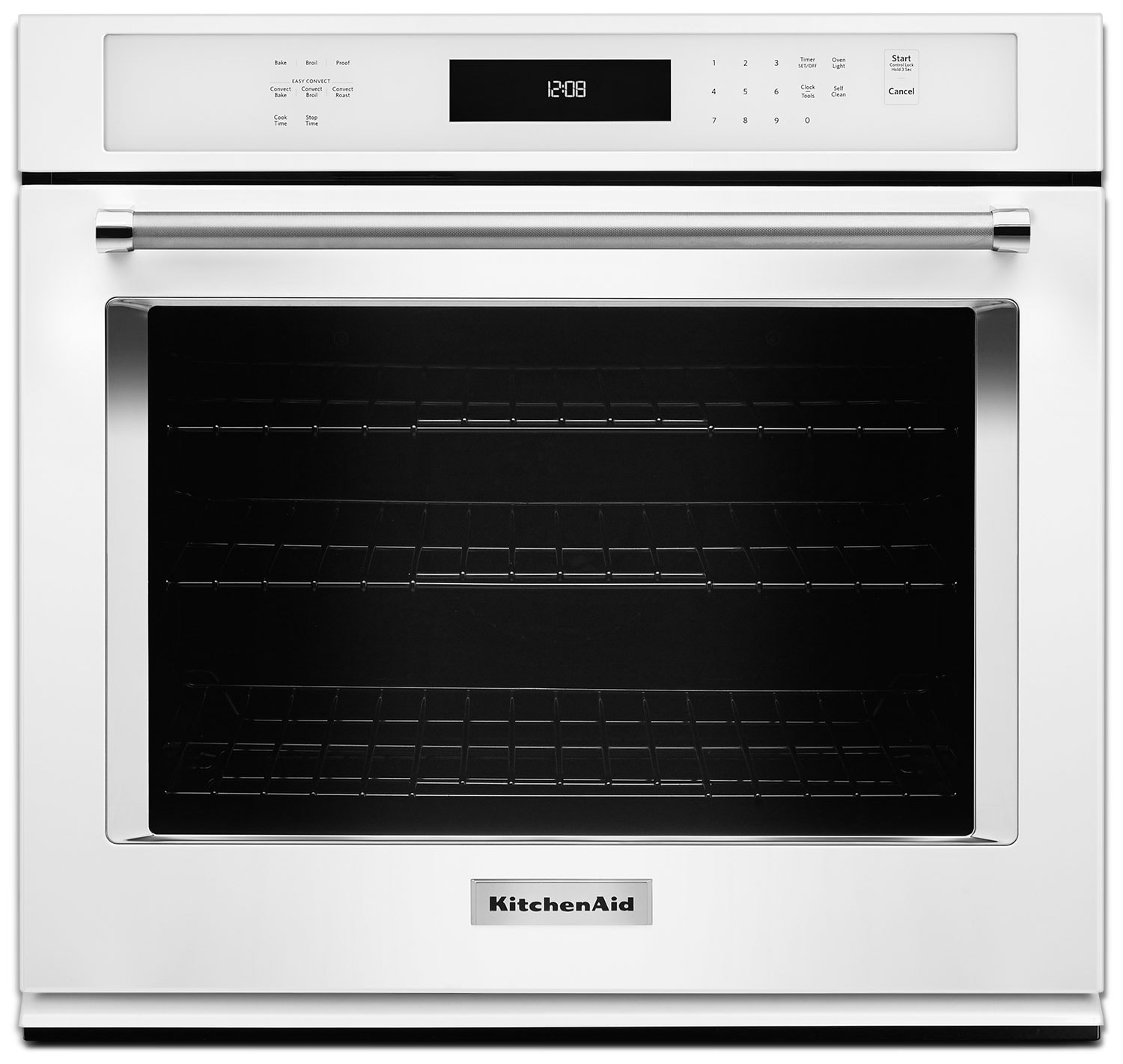 Cooking Products - KitchenAid 5.0 Cu. Ft. Single Wall Oven with Even-Heat™ True Convection - White