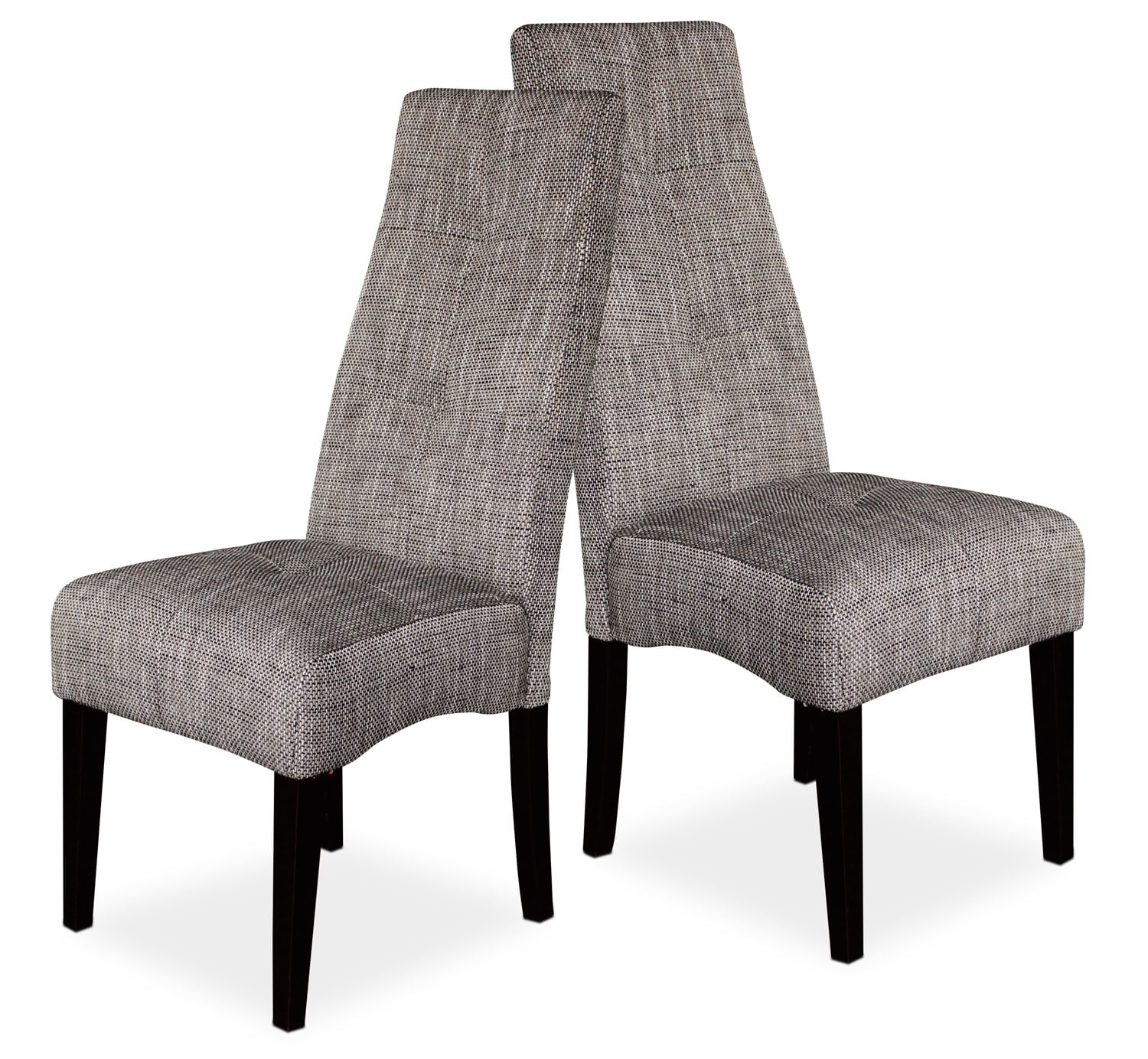 grey dining chairs – set of   the brick - hover to zoom