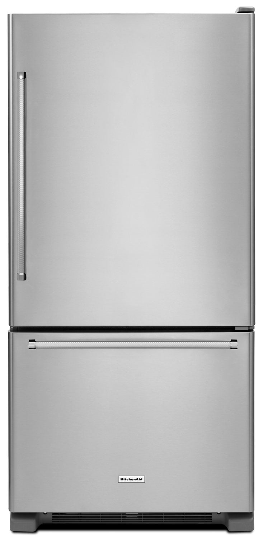 KitchenAid 22 Cu. Ft. Right Door Swing Bottom-Mount Refrigerator - Stainless Steel