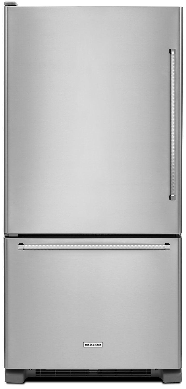 KitchenAid 22 Cu. Ft. Left Door Swing Bottom-Mount Refrigerator - Stainless Steel