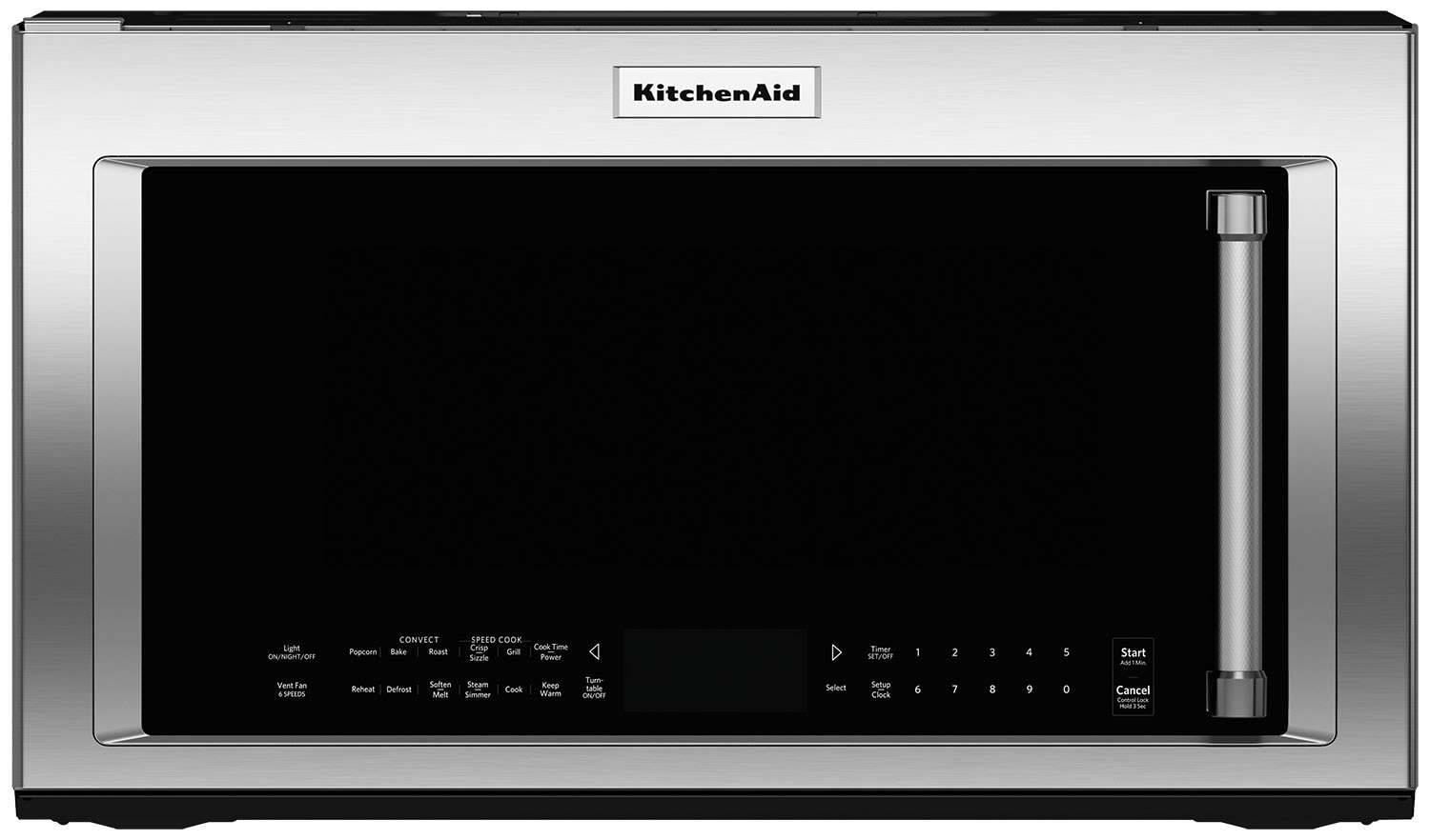 Cooking Products - KitchenAid 1.9 Cu. Ft. Convection Microwave with High-Speed Cooking - Stainless Steel
