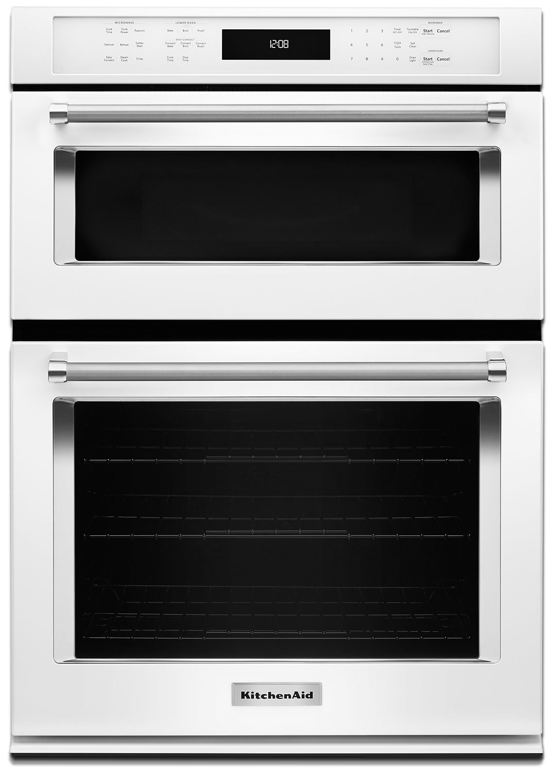 "Cooking Products - KitchenAid 30"" Double Wall Oven with Microwave and Conventional Oven - White"