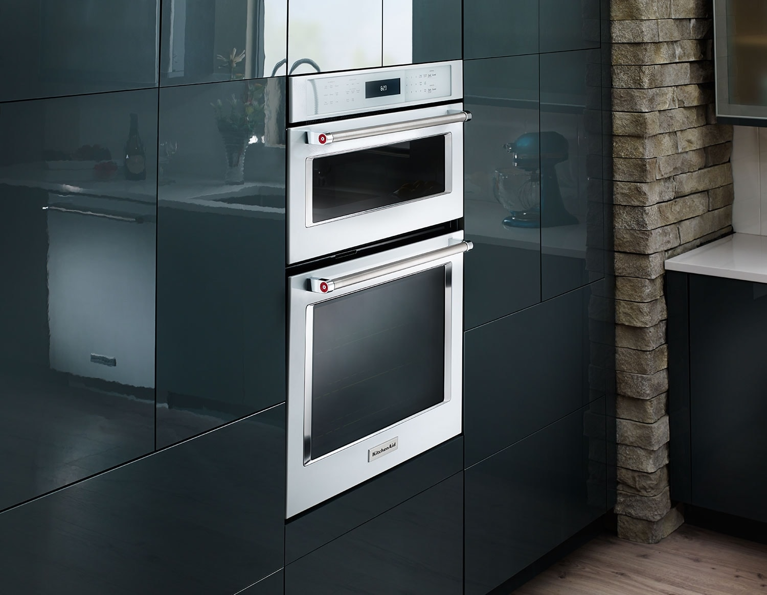 Kitchenaid 30 Double Wall Oven With Microwave And