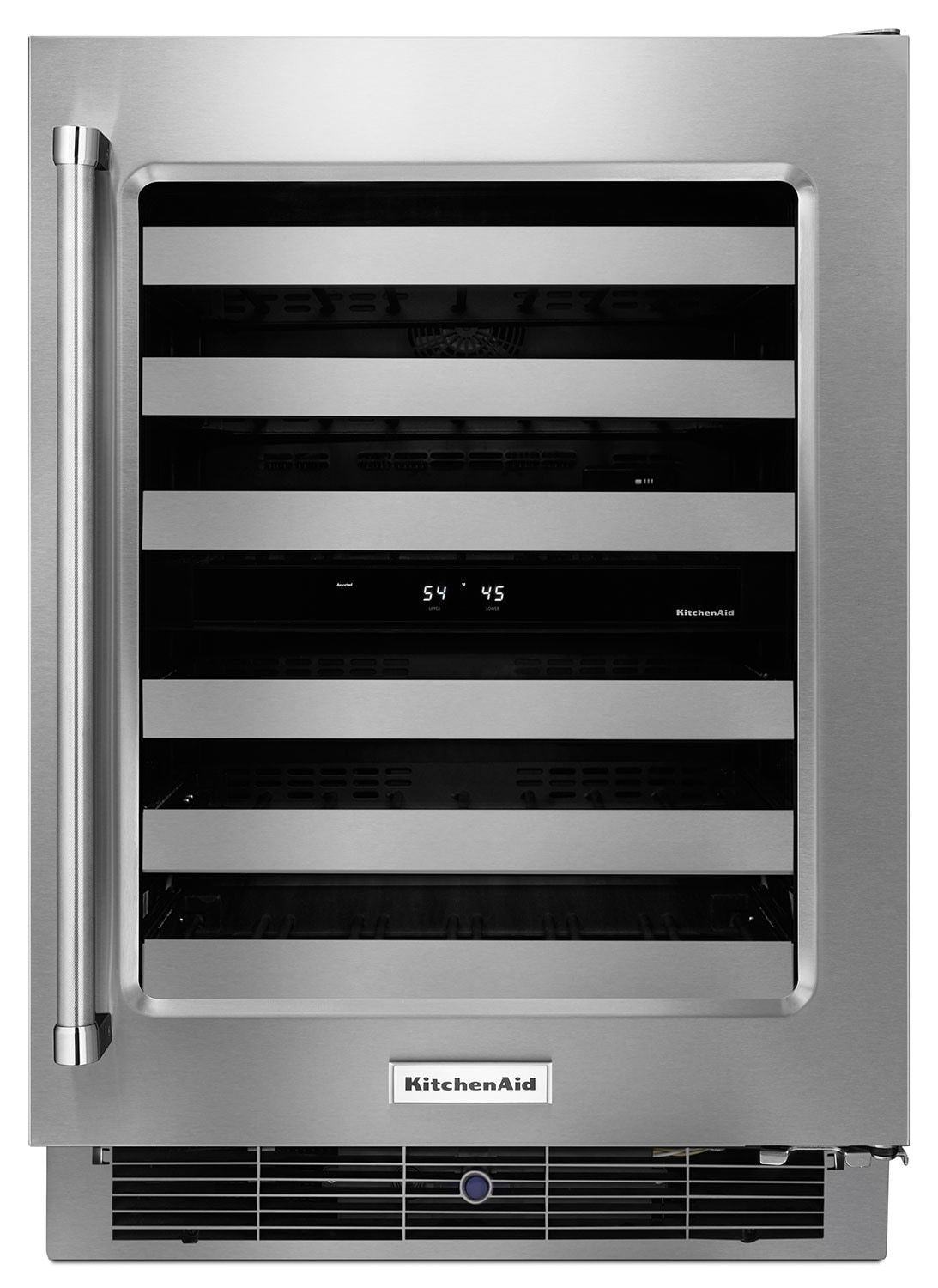 Refrigerators and Freezers - KitchenAid Stainless Steel Wine Cooler (4.7 Cu. Ft.) w/ Right Door-Swing - KUWR304ESS