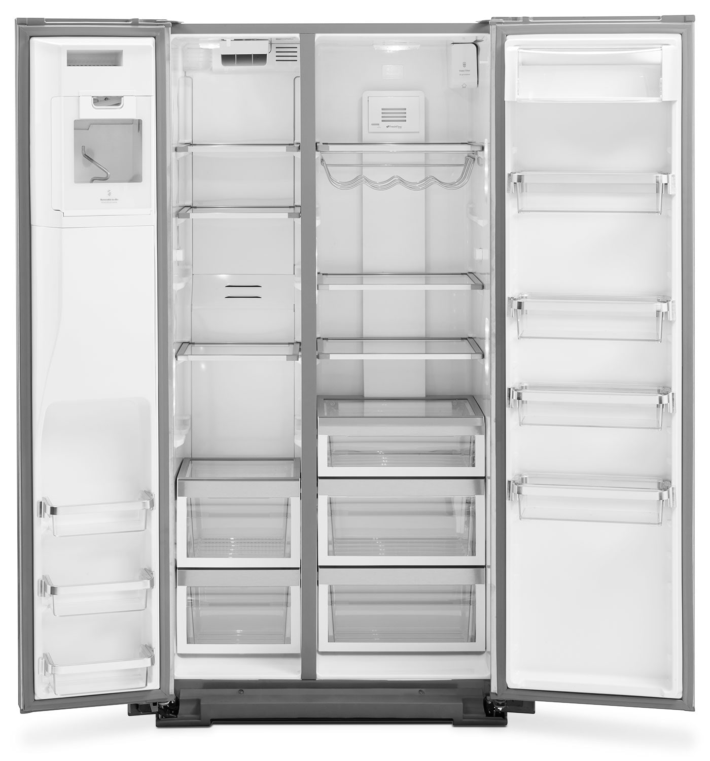 kitchenaid 22 6 cu ft counter depth side by side refrigerator