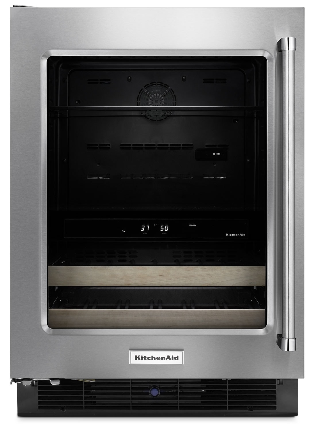 "Refrigerators and Freezers - KitchenAid 24"" Left-Swing Door Beverage Cellar - Stainless Steel"