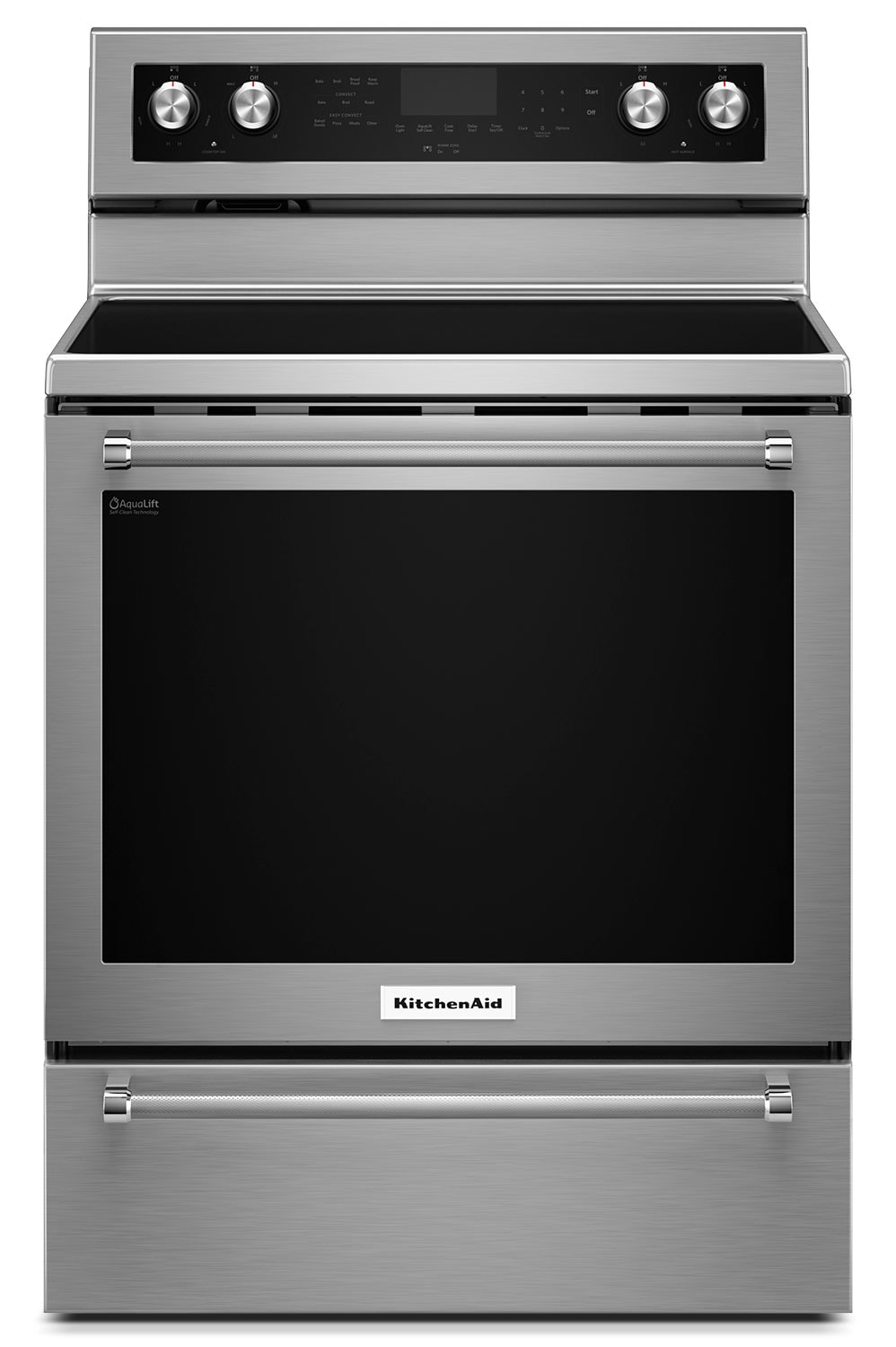 [KitchenAid Stainless Steel Freestanding Electric Convection Range (6.4 Cu. Ft.) - YKFEG510ESS]
