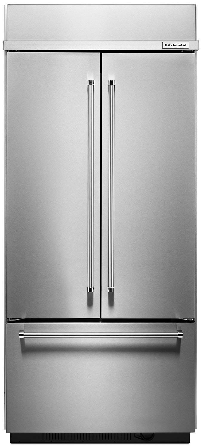 Refrigerators and Freezers - KitchenAid 20.8 Cu. Ft. Built-In French Door Refrigerator - Stainless Steel