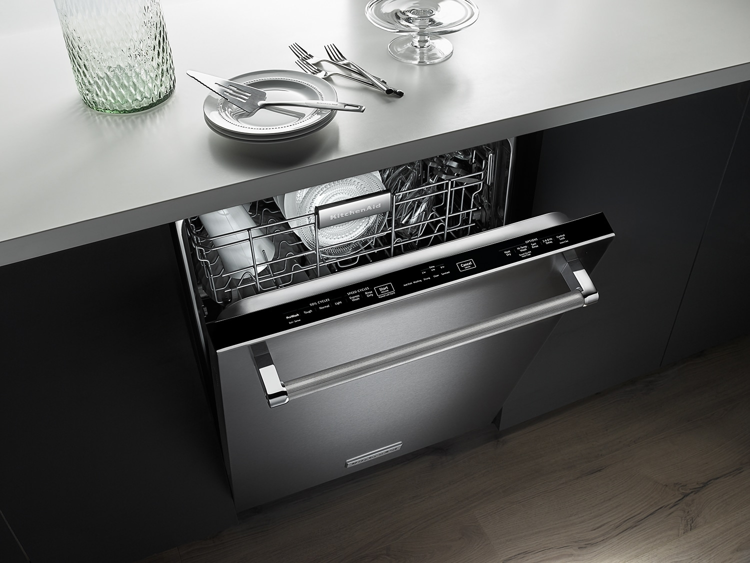 Kitchenaid Stainless Steel Dishwasher. 24 Kitchenaid Kdte254ess ...