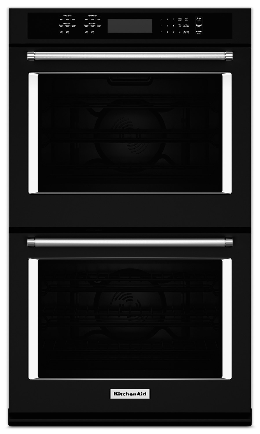 "Cooking Products - KitchenAid 30"" Double Wall Oven - Black"