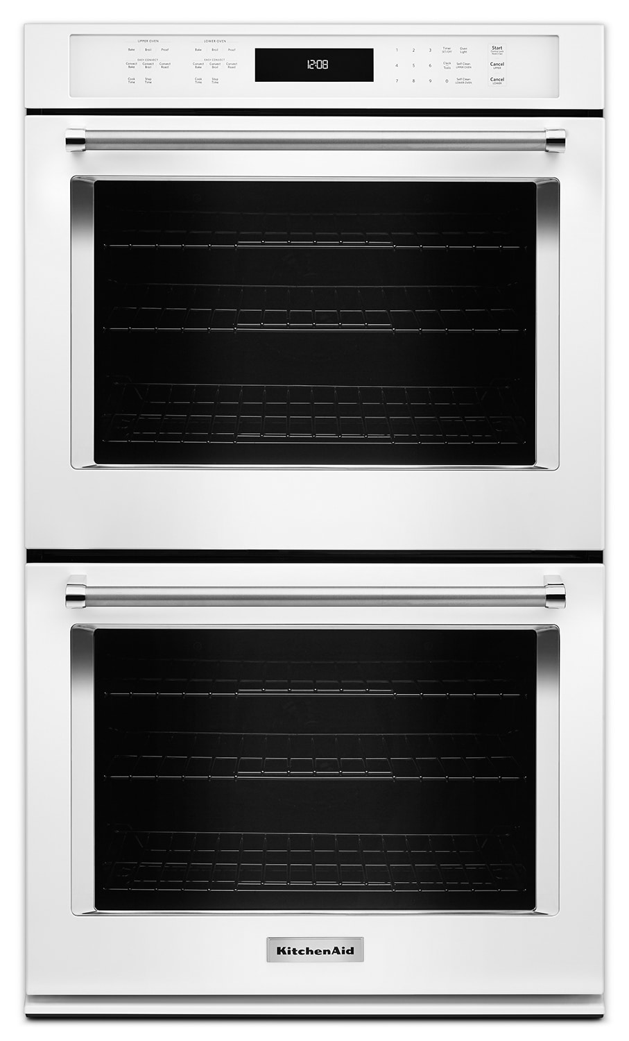"Cooking Products - KitchenAid 30"" Double Wall Oven - White"