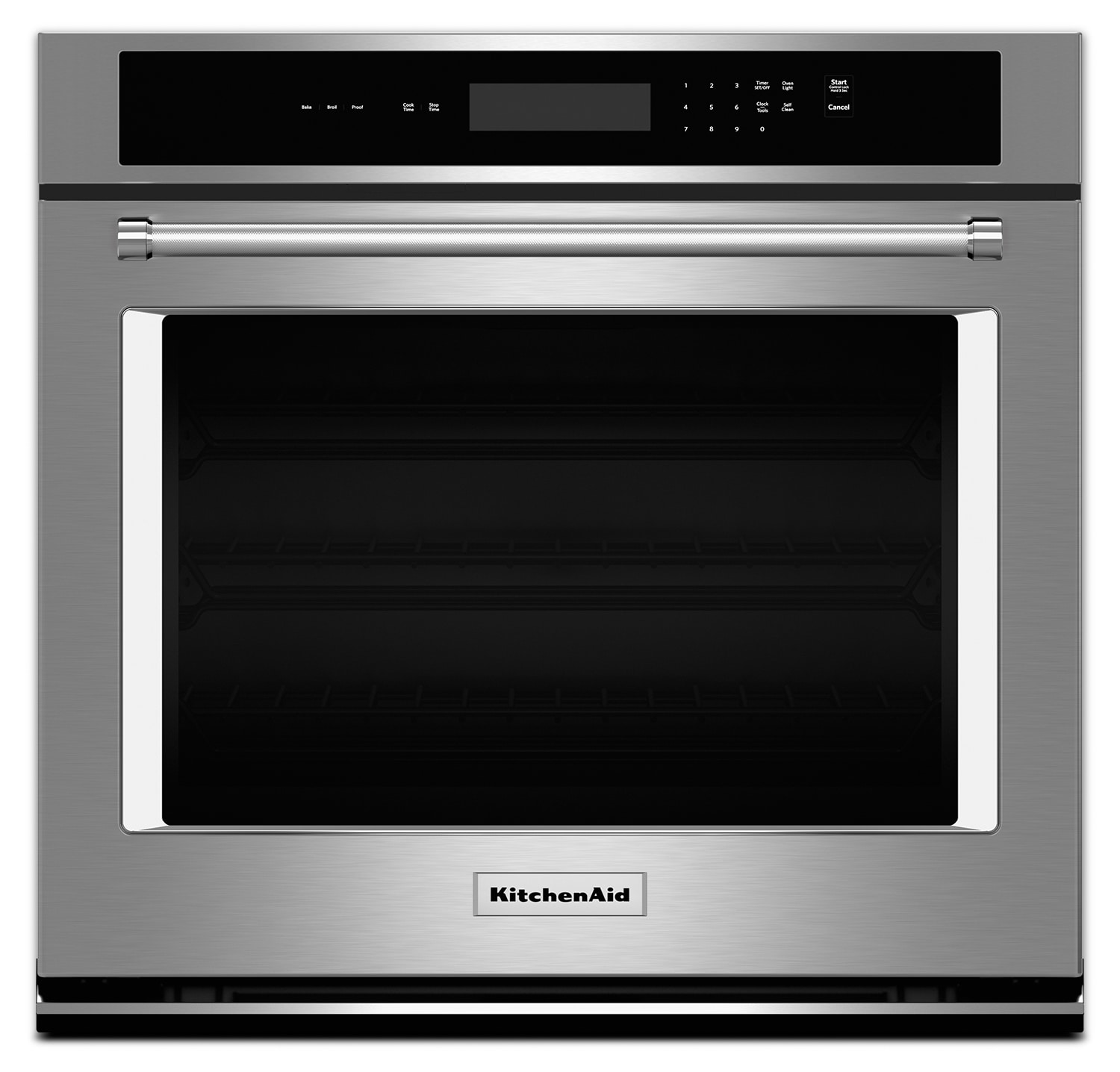 "Cooking Products - KitchenAid 27"" Single Wall Oven with Even-Heat™ Thermal Bake and Broil – Stainless Steel"
