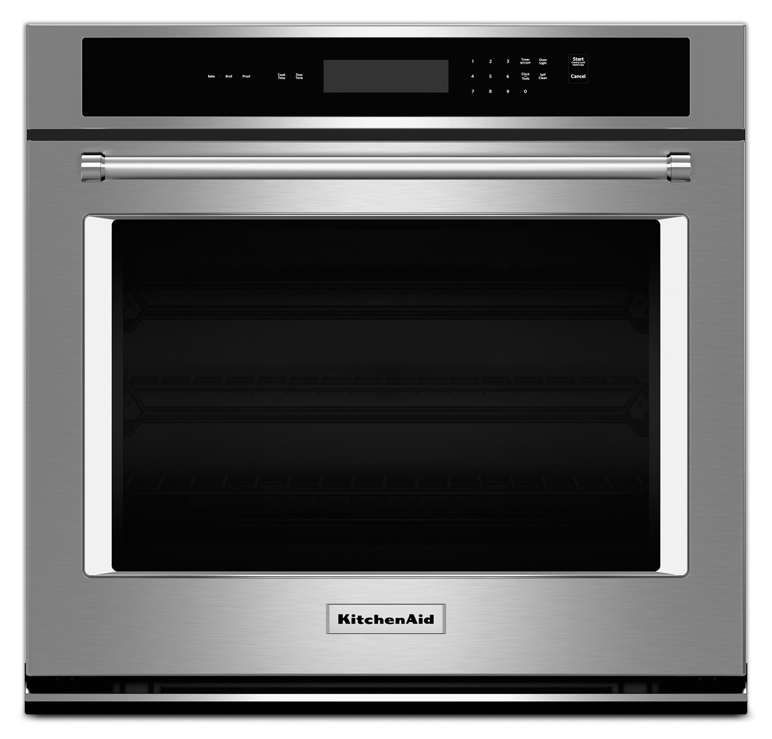 "Cooking Products - KitchenAid 30"" Single Wall Oven with Even-Heat™ Thermal Bake and Broil – Stainless Steel"