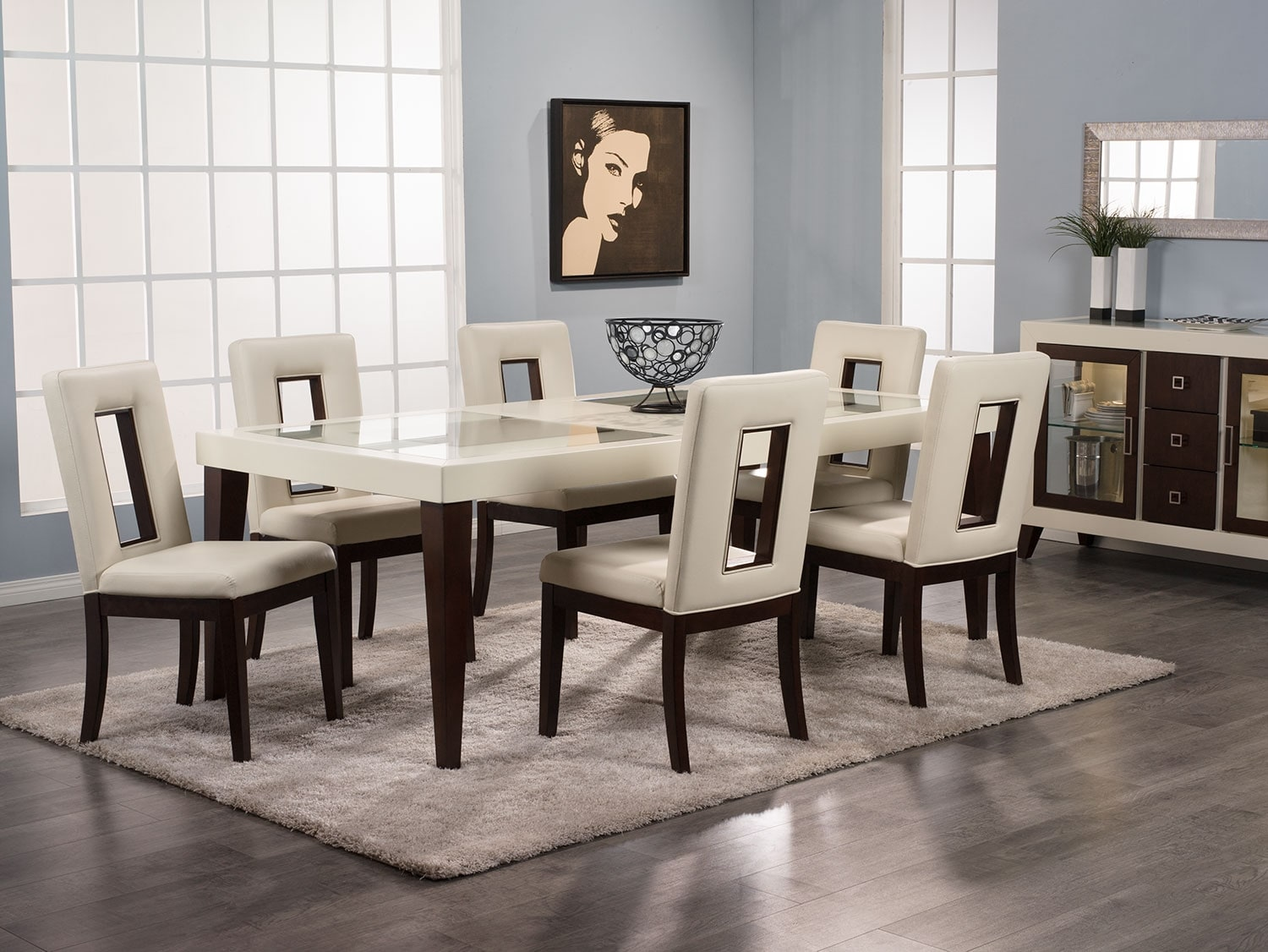 Dining Room Furniture - Zenoe 8-Piece Dining Package