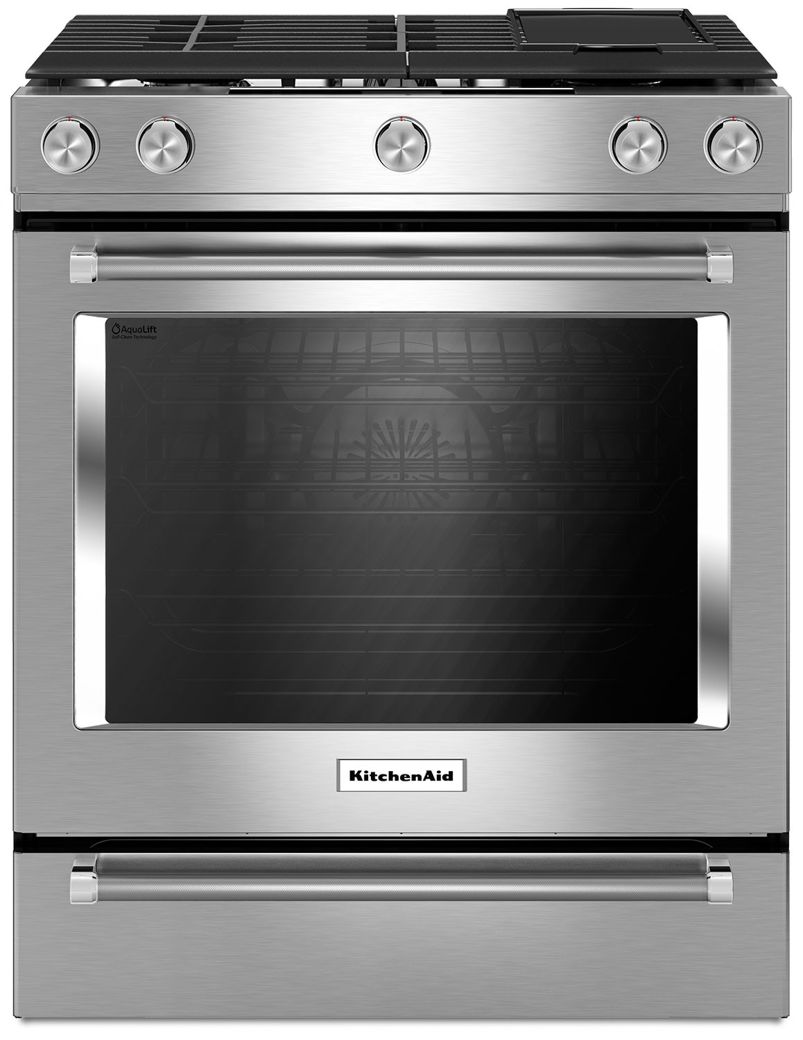 "KitchenAid 30"" Gas Convection Range with Baking Drawer - Stainless Steel"