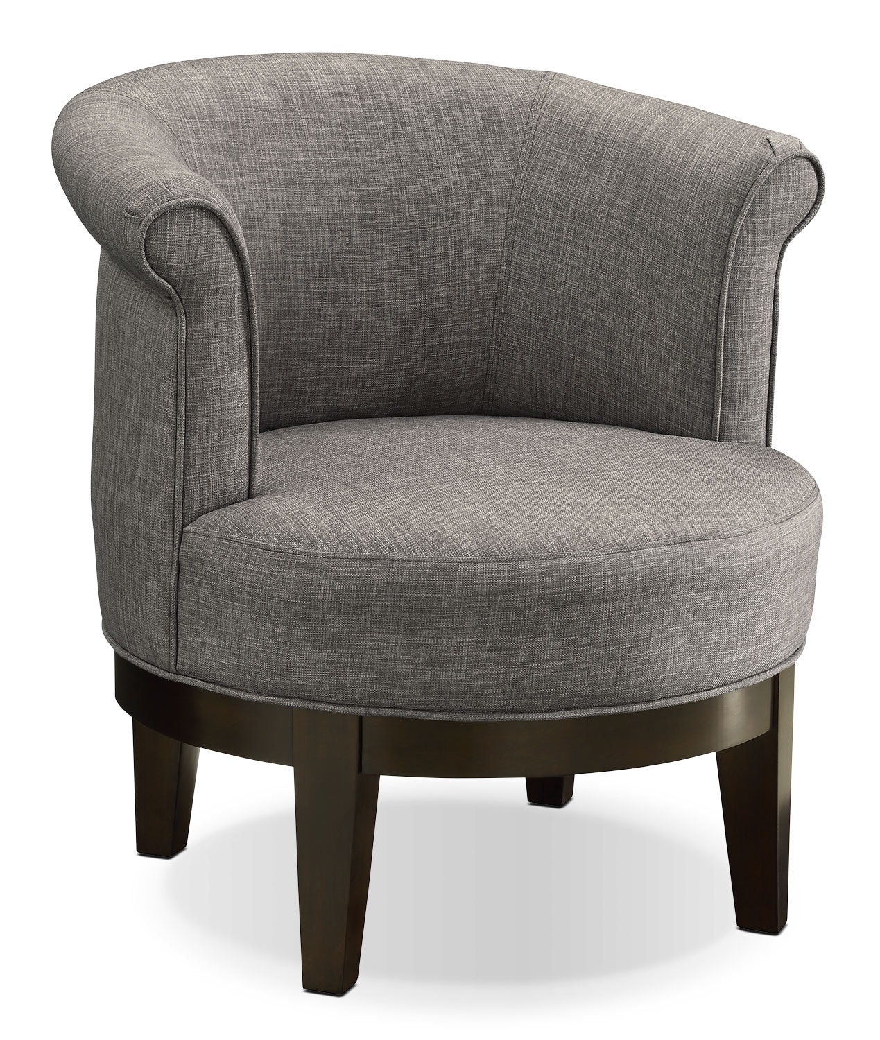 Living Room Furniture - Lino Fabric Fabric Swivel Accent Chair –Platinum