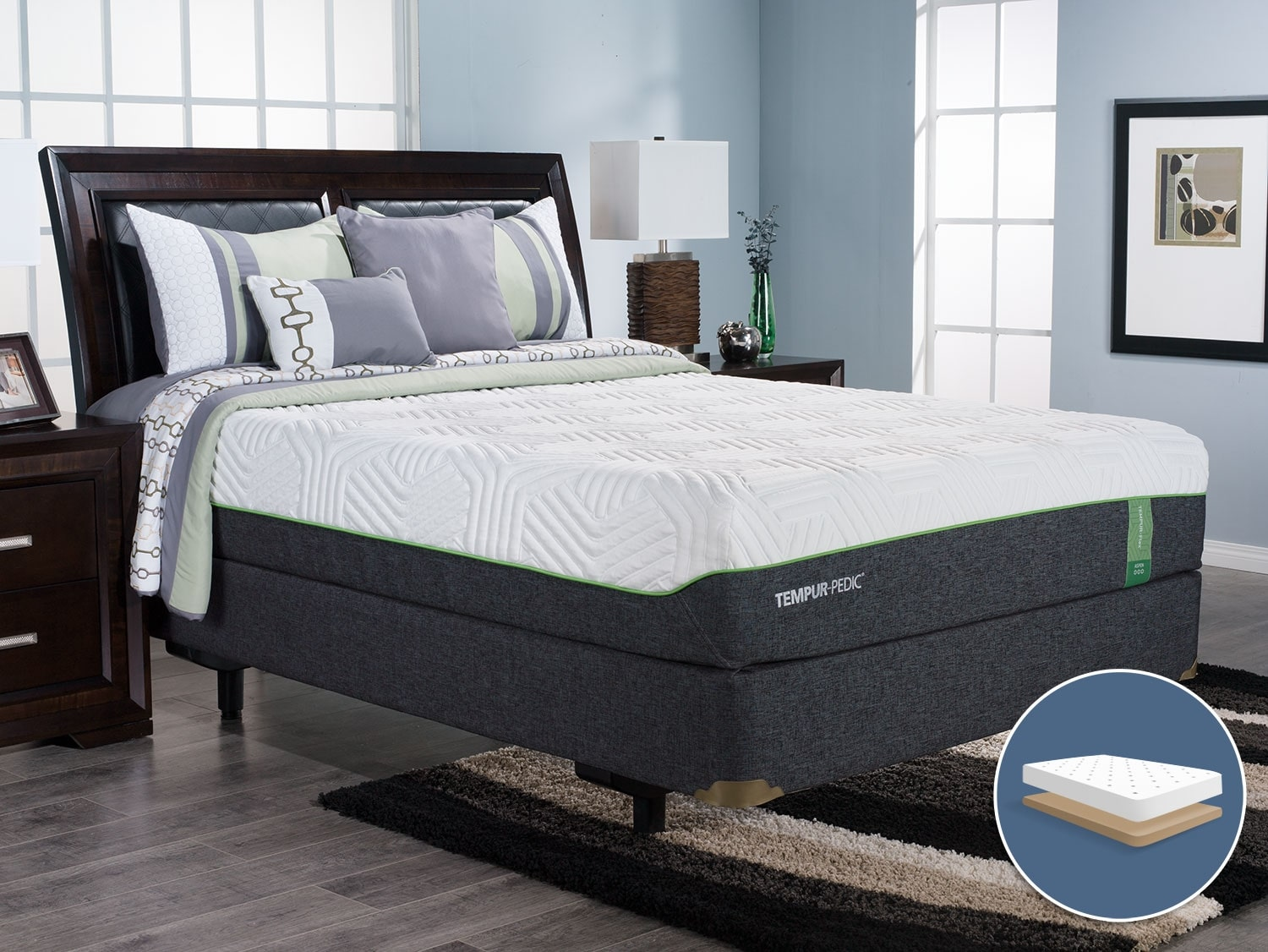 TEMPUR-Flex™ Aspen Low-Profile King Mattress Set