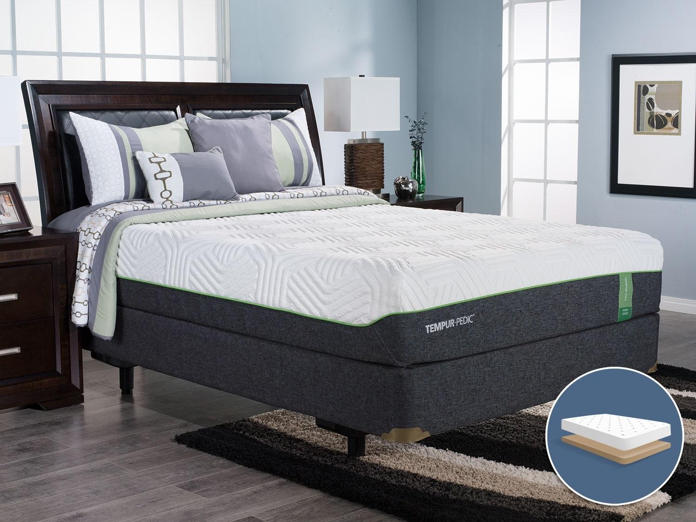 Mattresses and Bedding - TEMPUR-Flex™ Aspen Low-Profile Queen Mattress Set