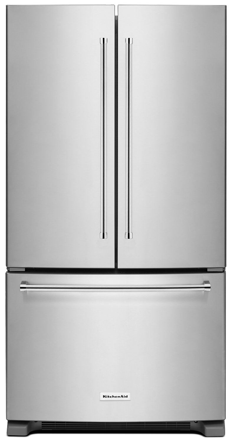 Refrigerators and Freezers - KitchenAid 25 Cu. Ft. French Door Refrigerator with Interior Dispenser - Stainless Steel