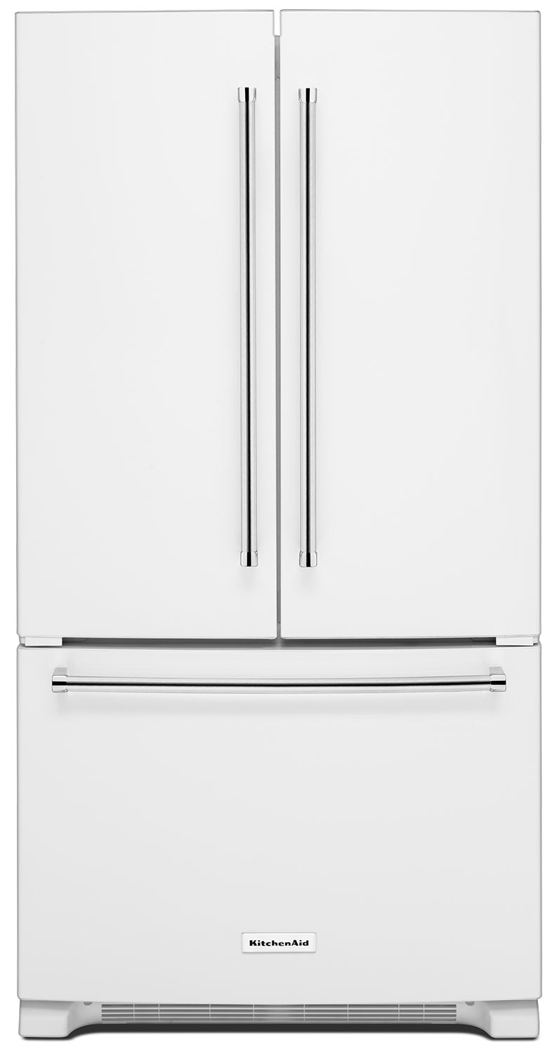 KitchenAid 25 Cu. Ft. French Door Refrigerator with Interior Dispenser - White