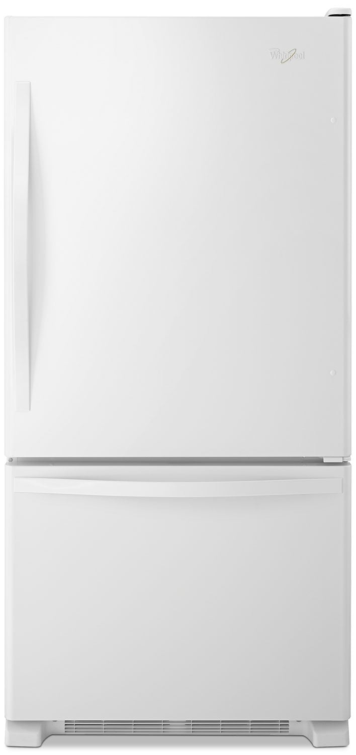 Refrigerators and Freezers - Whirlpool® 18.5 Cu. Ft. Bottom-Mount Refrigerator – White