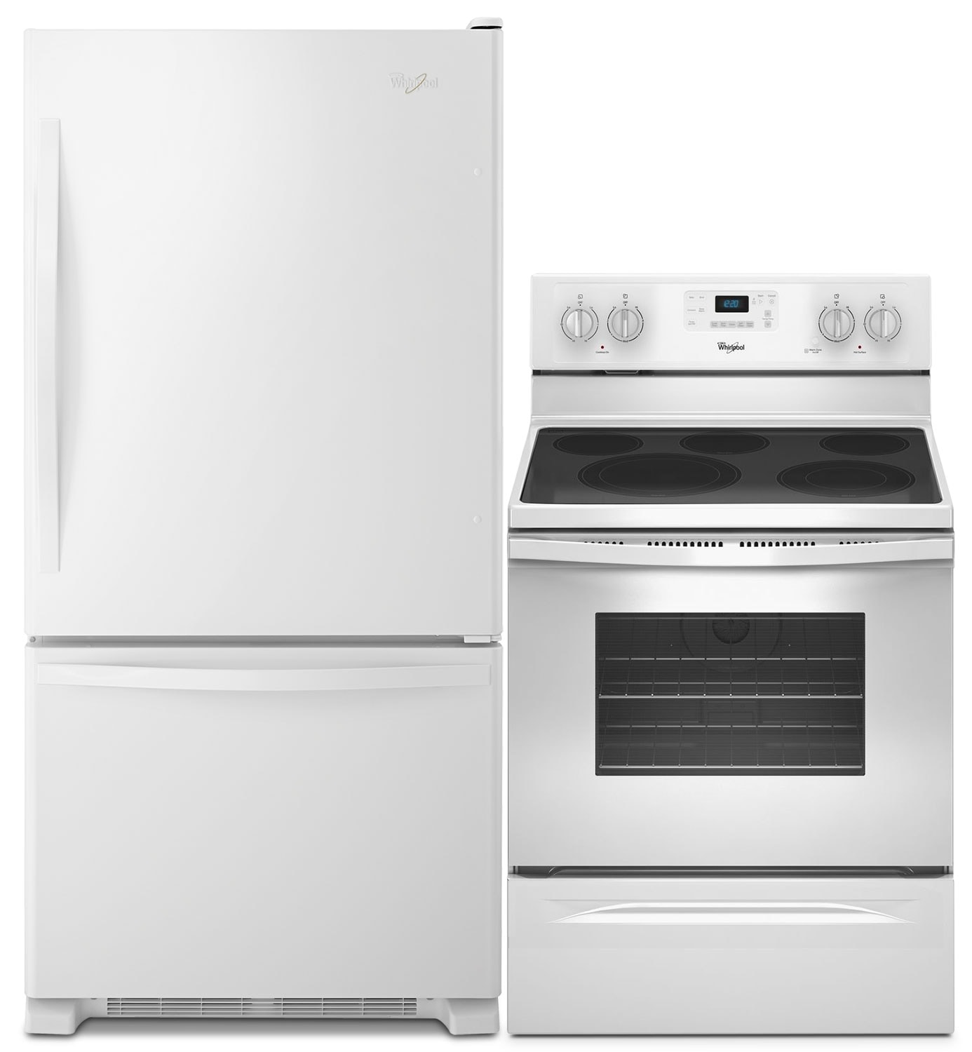 Refrigerators and Freezers - Whirlpool® 18.5 Cu. Ft. Refrigerator and 5.3 Cu. Ft. Electric Range Package