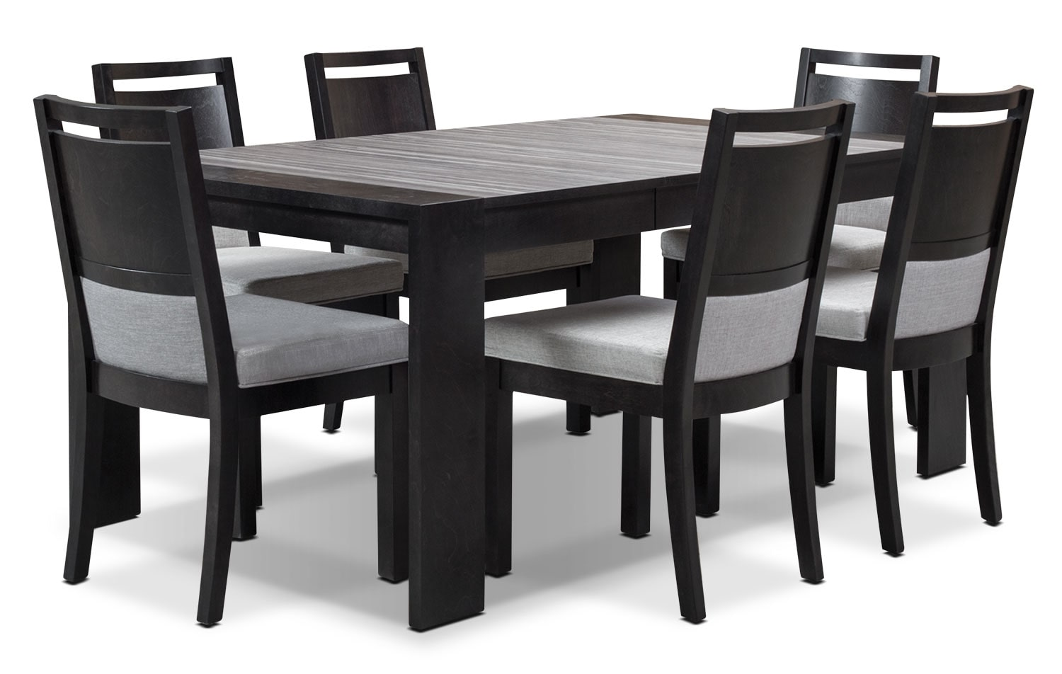 Dining Room Furniture - Khala 7-Piece Dining Room Set - Espresso