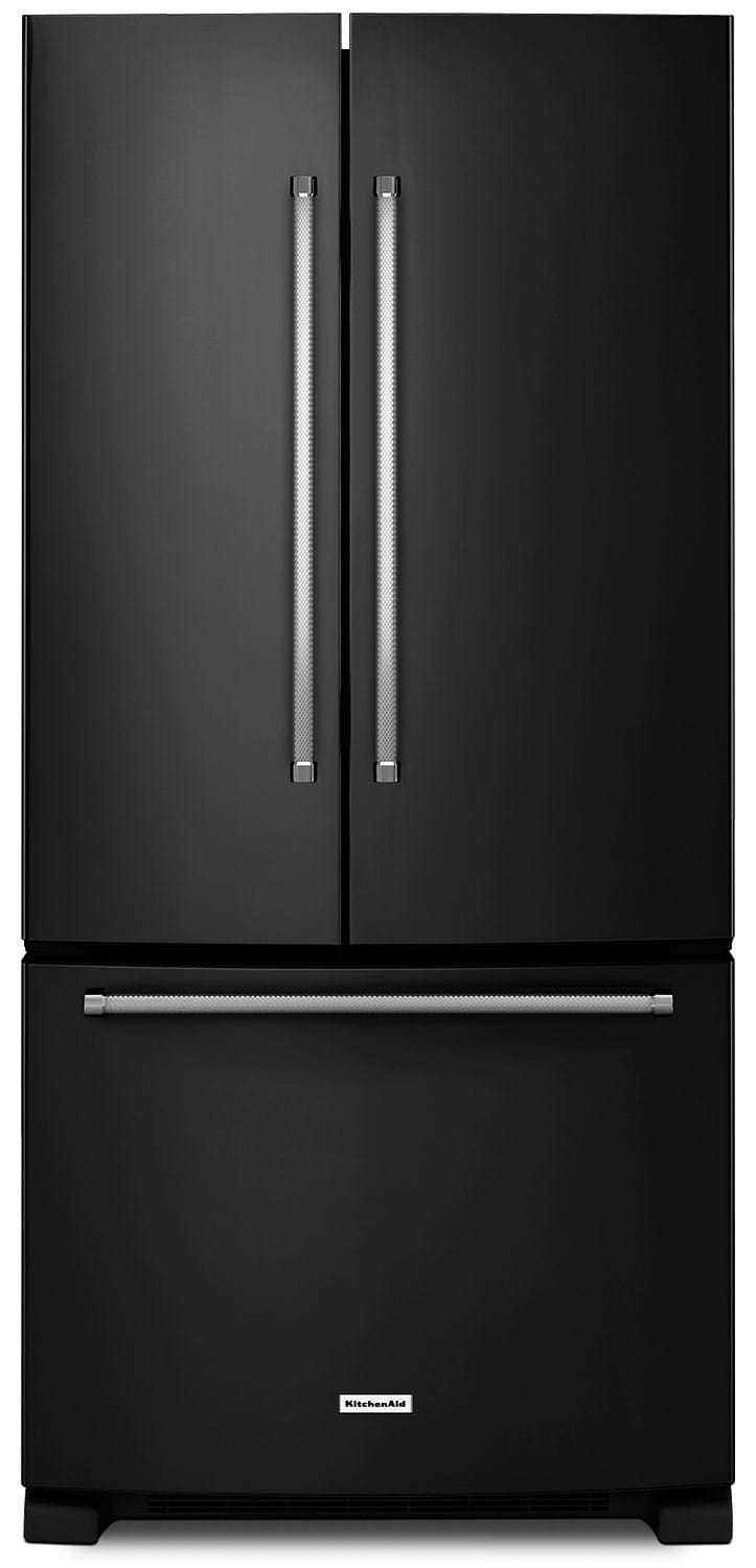Refrigerators and Freezers - KitchenAid 25 Cu. Ft. French Door Refrigerator with Interior Dispenser - Black
