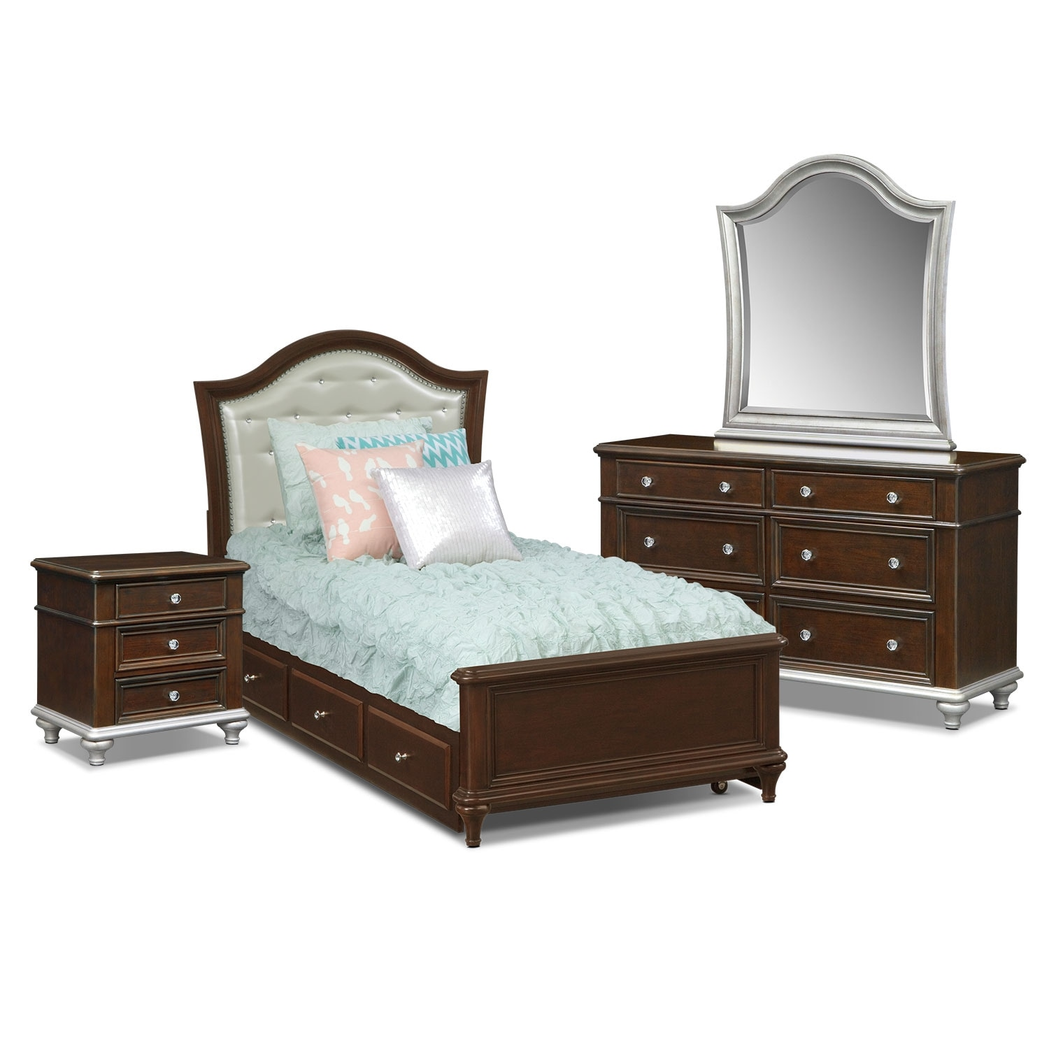 [Juliette 7 Pc. Full Bedroom with Trundle]