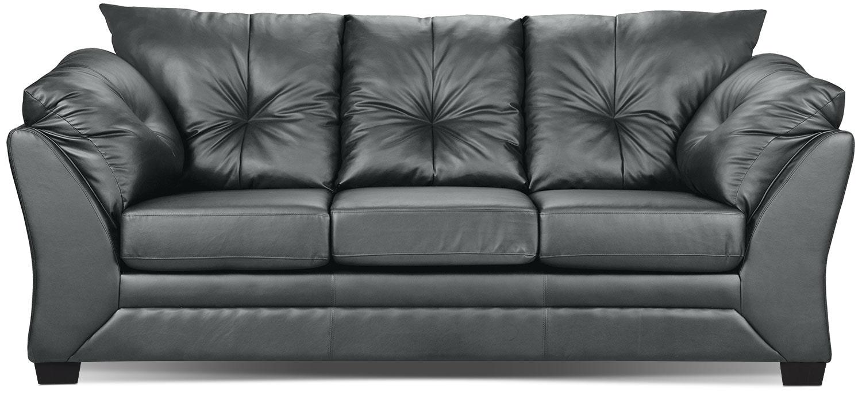 Max Faux Leather Sofa   Grey