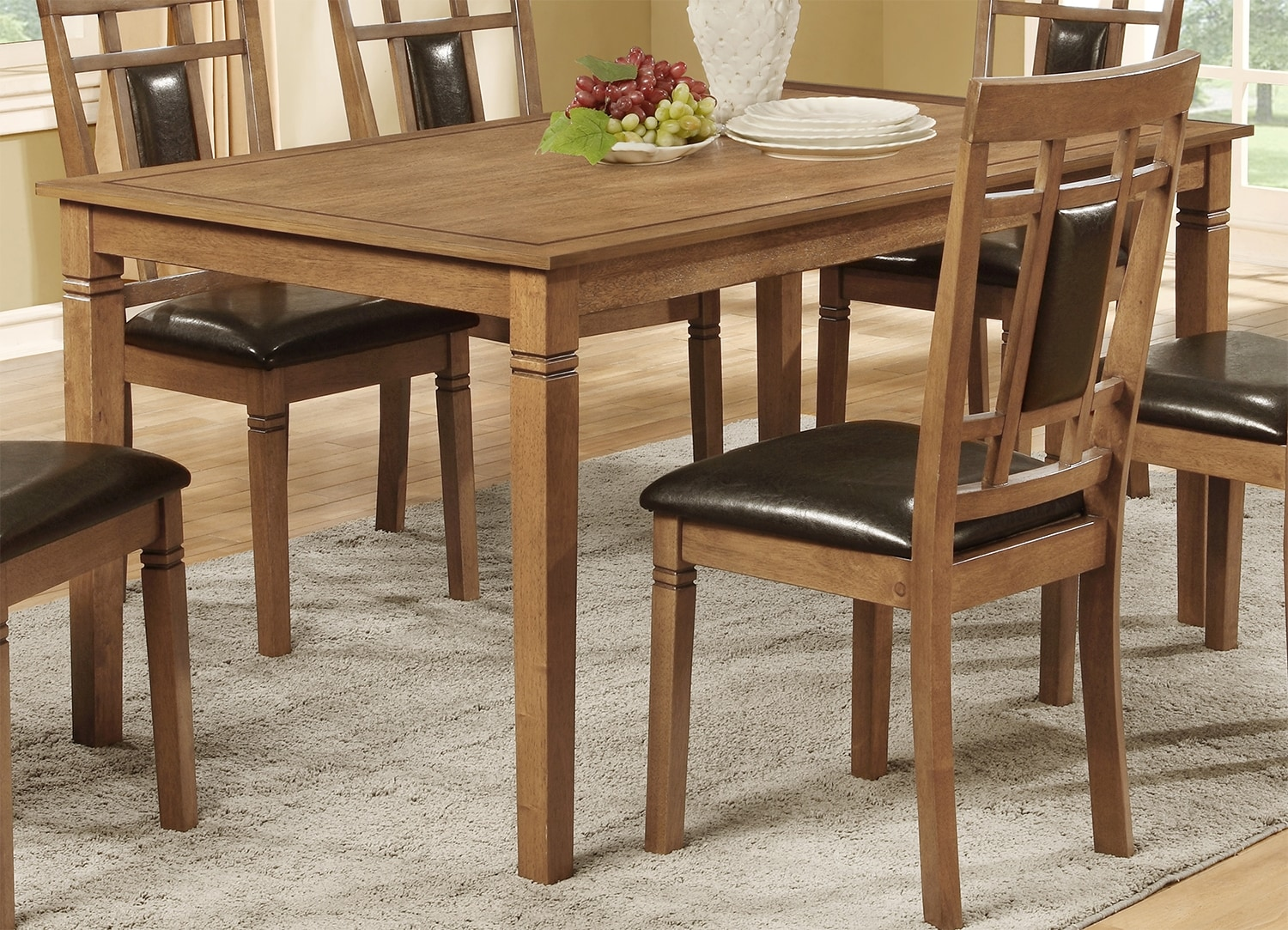 Aran Dining Table – Light Mango