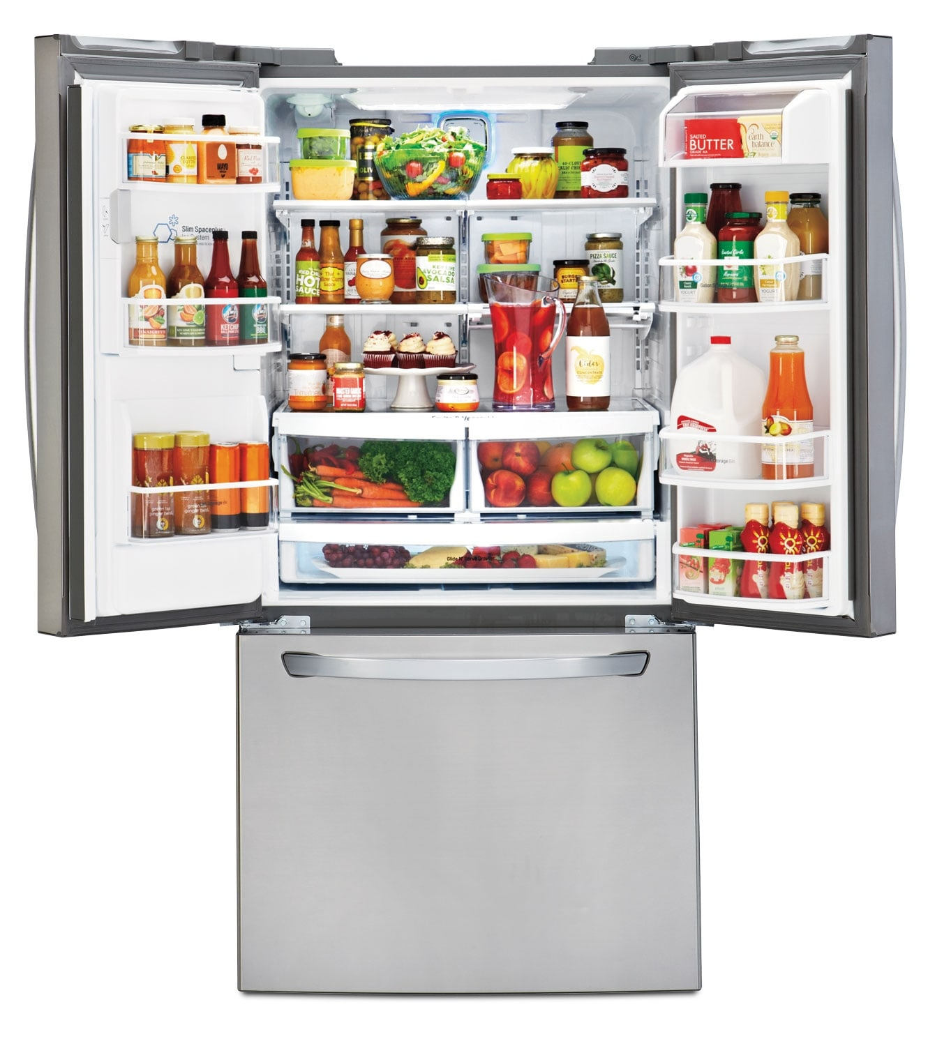1500 #A75A24 LG Appliances Stainless Steel French Door Refrigerator (24.2 Cu. Ft  picture/photo Home Depot Refrigerators French Doors 35191330