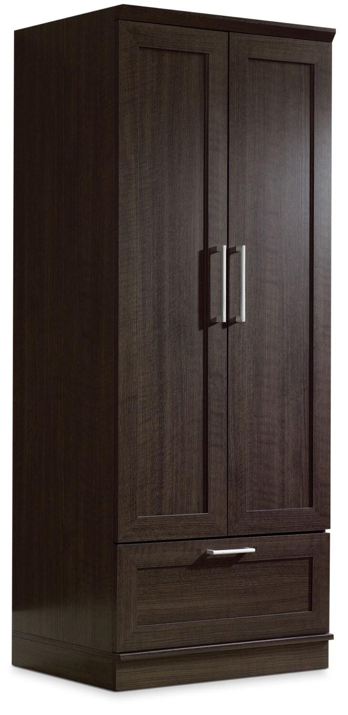 "Accent and Occasional Furniture - Clinton 29"" Wardrobe/Storage Cabinet – Dakota Oak"