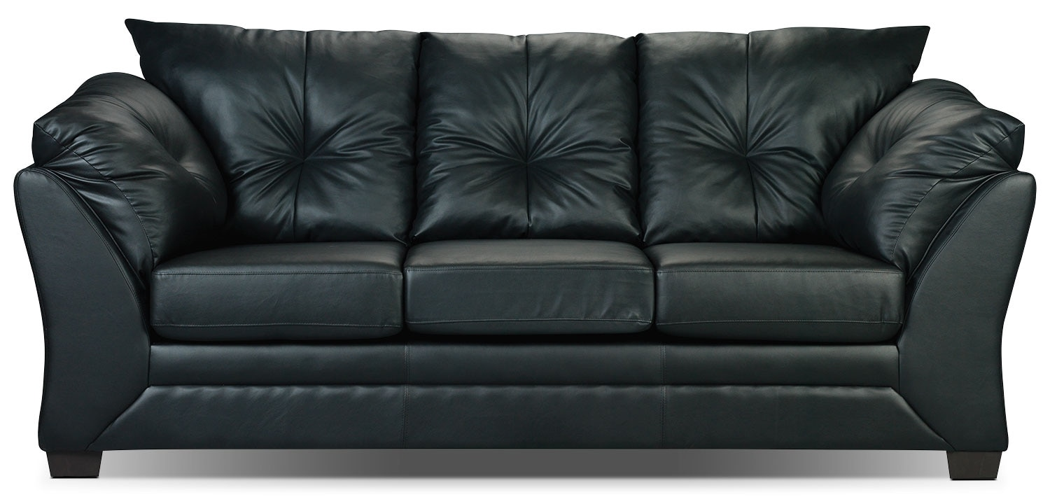 Max faux leather full size sofa bed black the brick for Sofa bed the brick