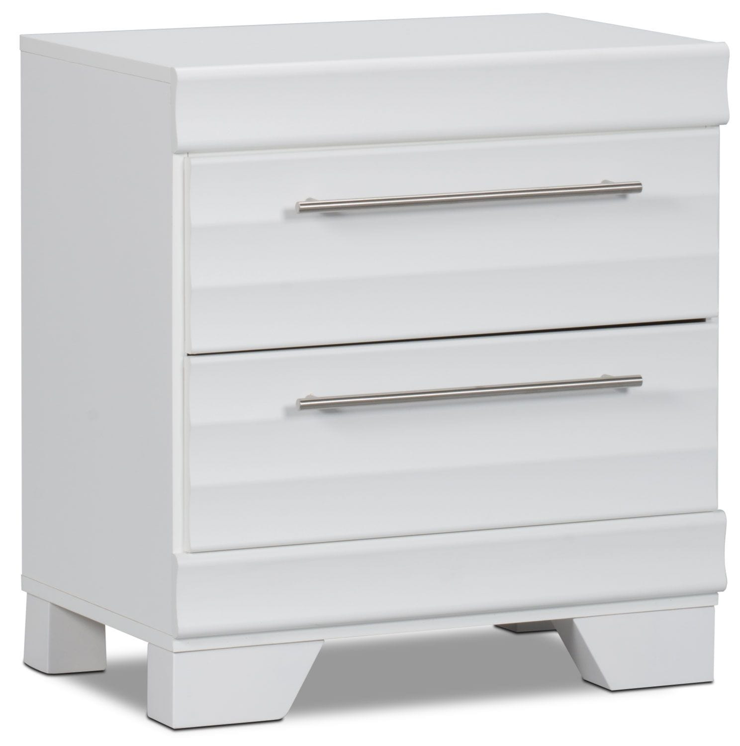 Bedroom Furniture - Olivia Nightstand – White