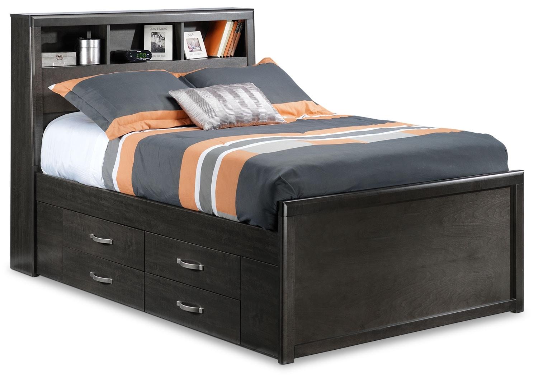Kids Furniture - Dessy Junior Full Storage Bed - Charcoal