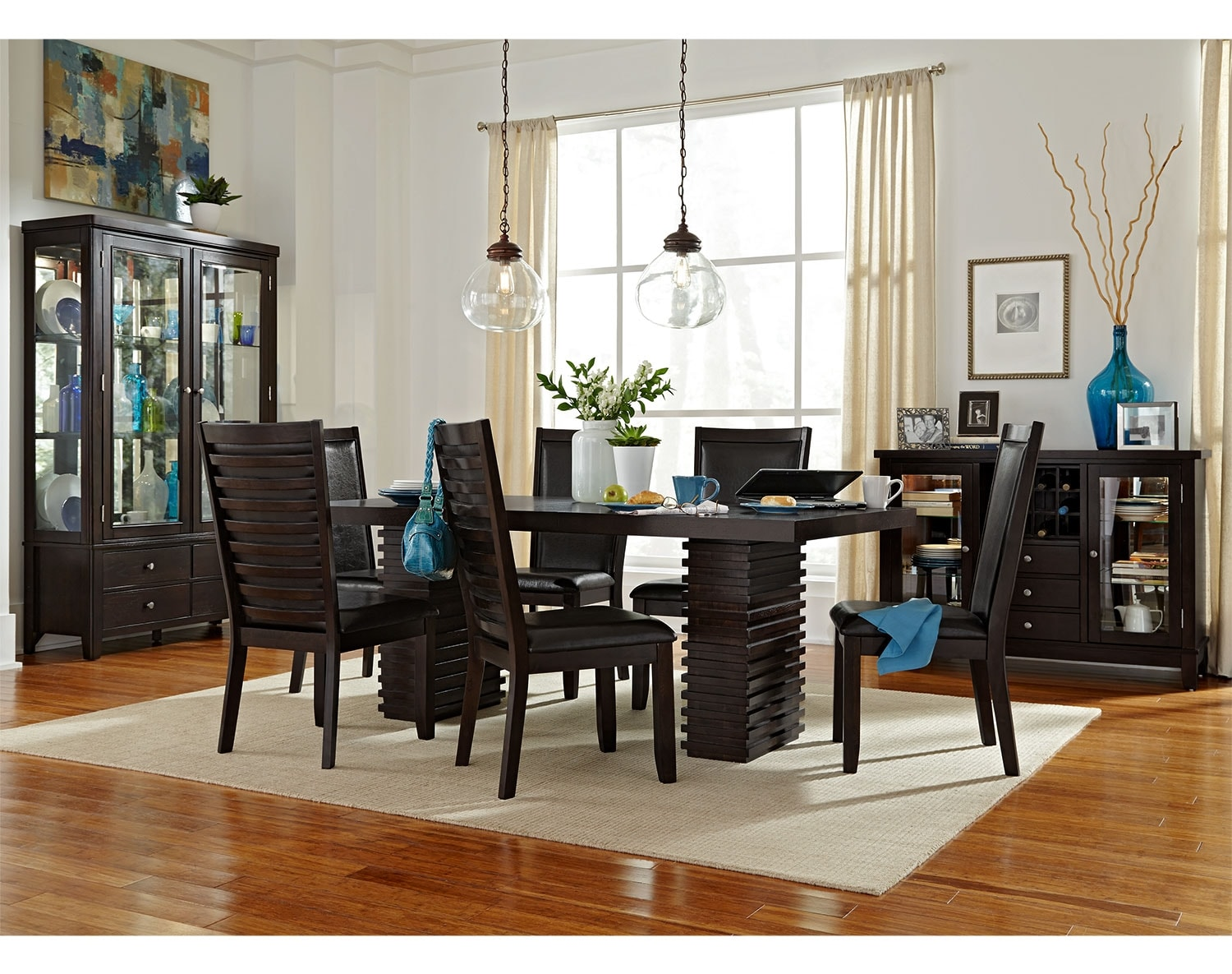Dining Room Furniture - The Costa Brown Collection - Table