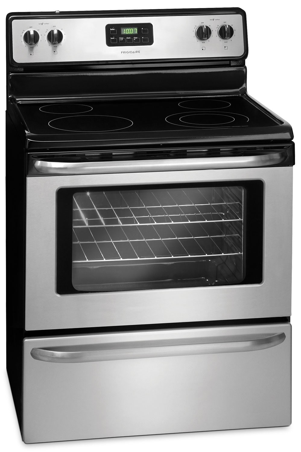 Cooking Products - Frigidaire 4.8 Cu. Ft. Free-Standing Electric Range - Stainless Steel